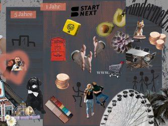 Vision Board für Startups vor dem Gründen, Unternehmensziele und Werte eines Unternehmens